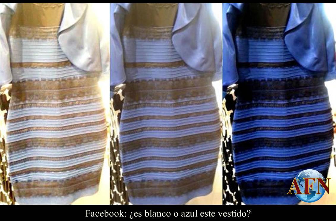 Vestido azul facebook
