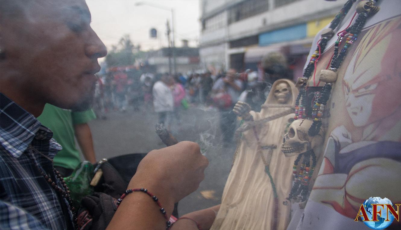 Inseguridad en Tepito pega a La Santa Muerte