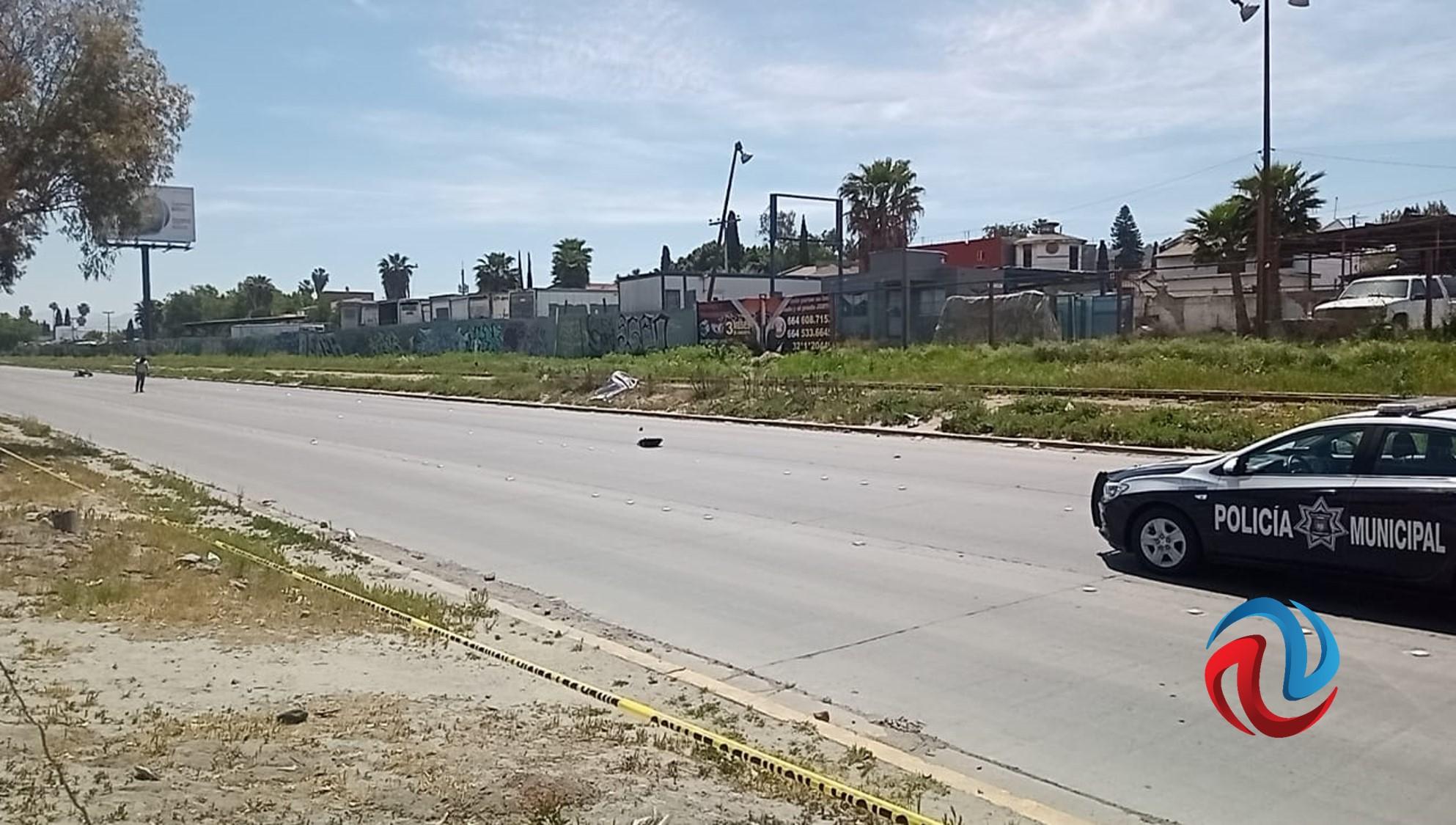 Motociclista muere en fuerte accidente en bulevar Federico Benítez