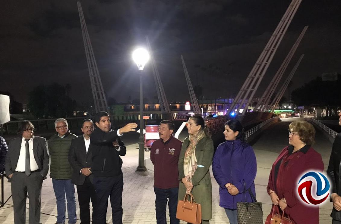 Re-encienden puente Bicentenario