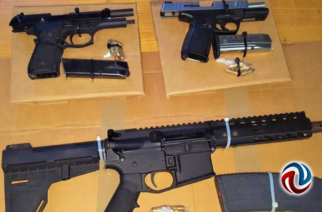 Detienen a dos con armas y una granada de fragmentación