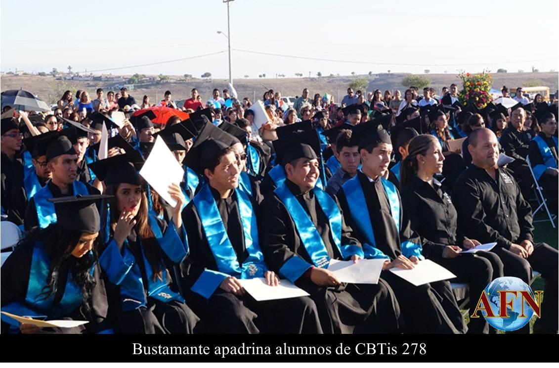 Bustamante apadrina alumnos de CBTis 278