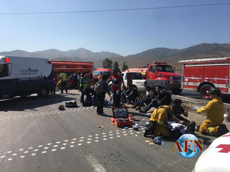 Camionazo, 18 lesionados