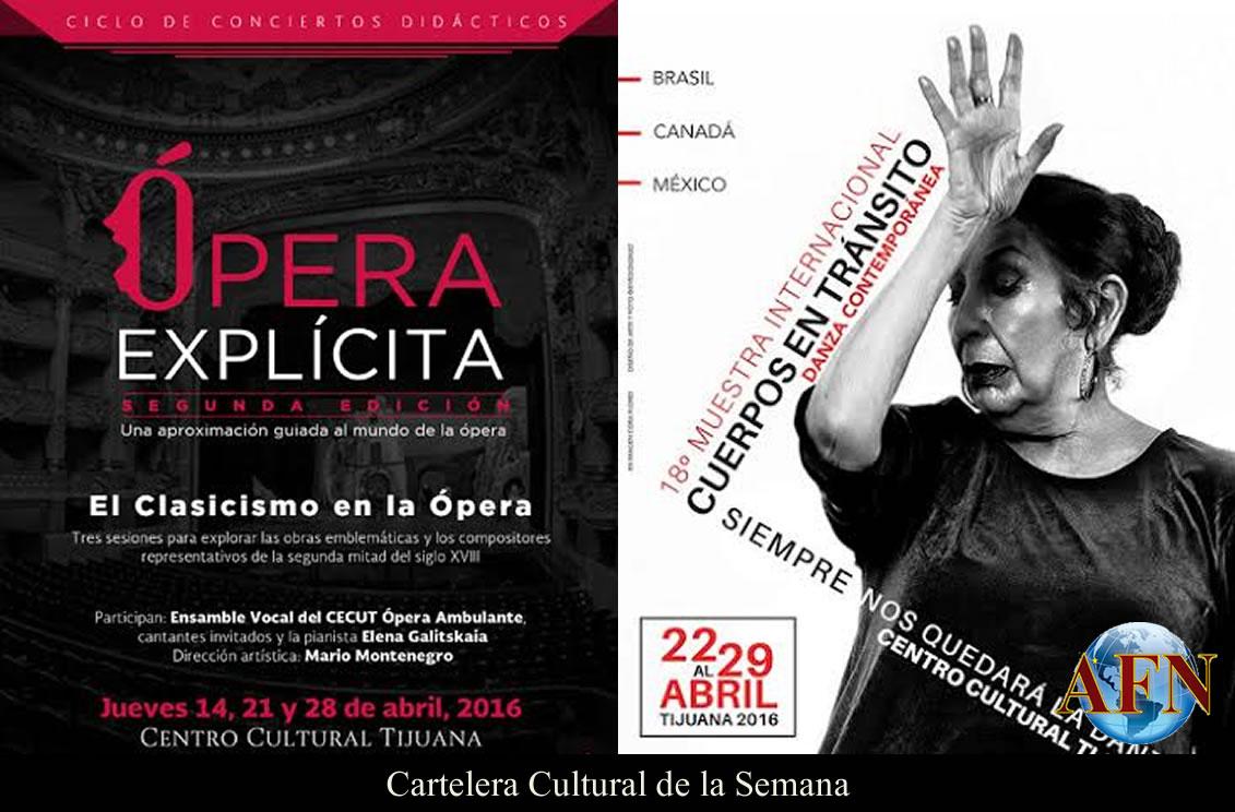 Cartelera Cultural 21 al 30 Abril 2016
