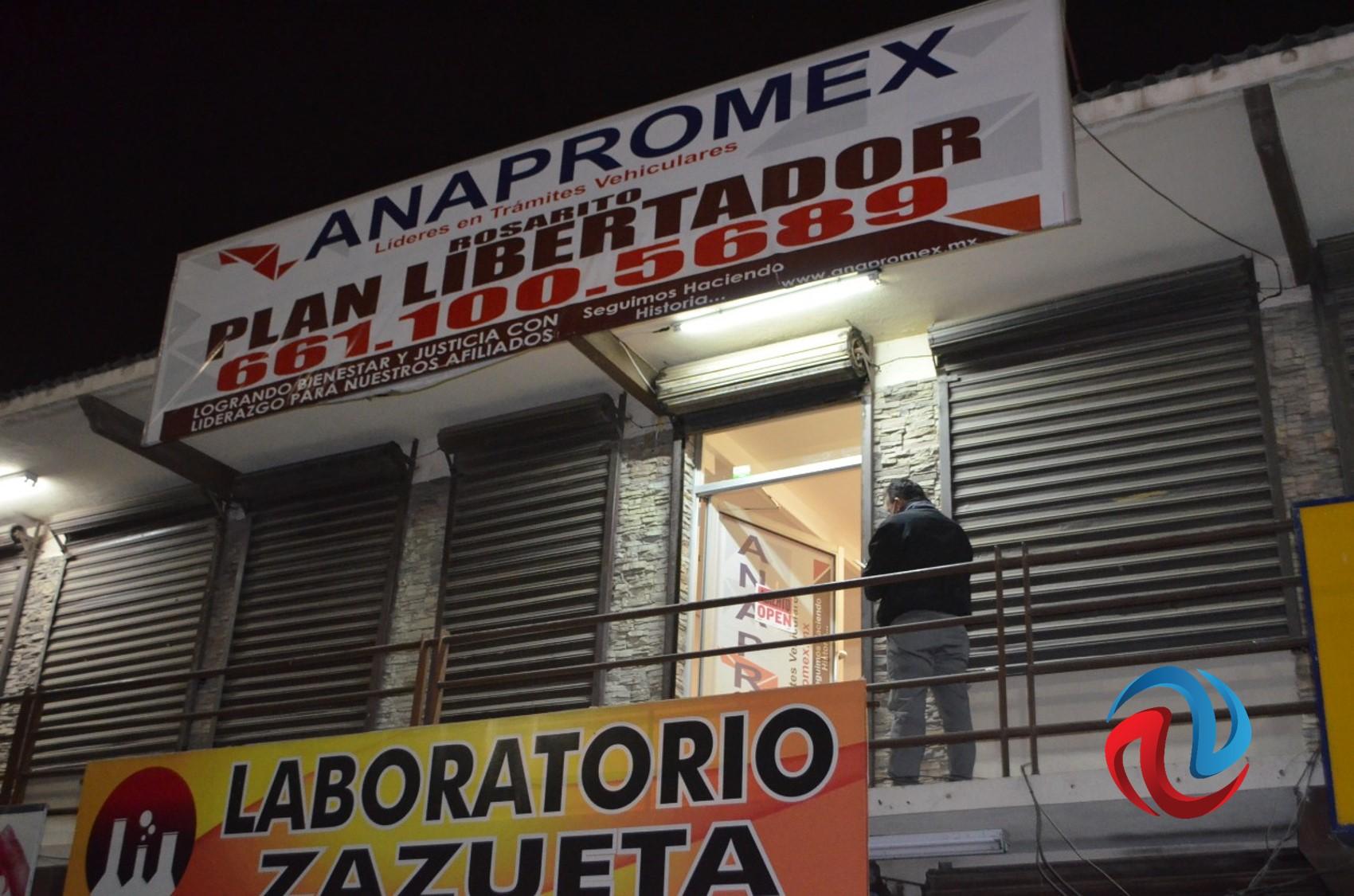 Catean dos oficinas de Anapromex en Rosarito