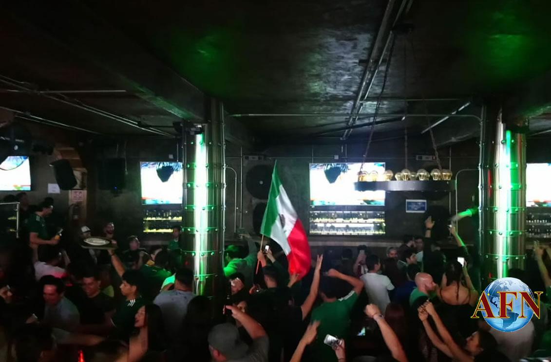 Celebran triunfo de México
