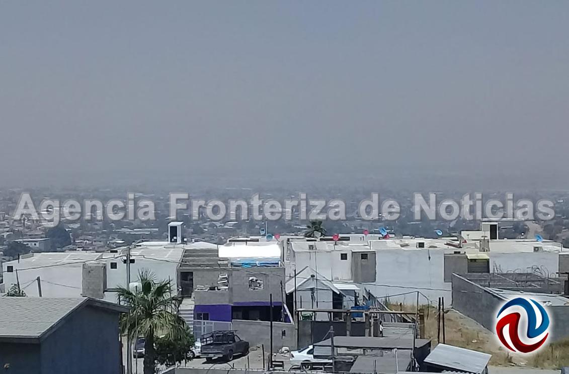 Se oscurece el cielo de Tijuana por serie de incendios