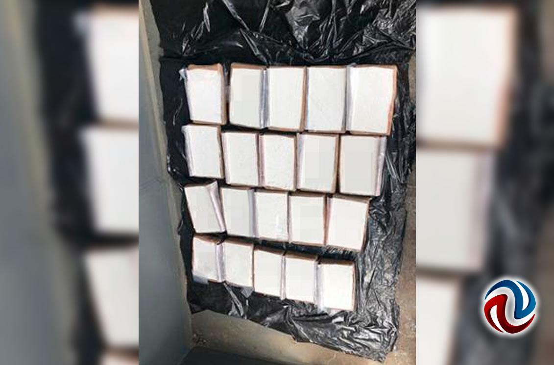 Decomisa SEMAR  79 kilos de coca en Ensenada