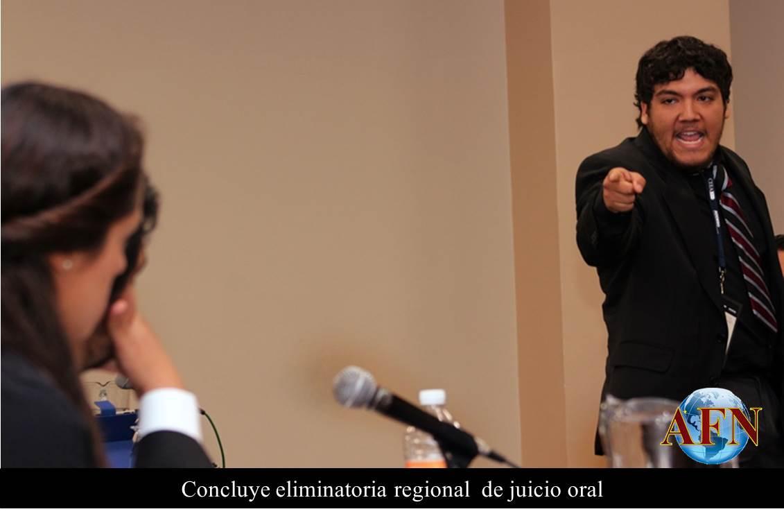 Concluye eliminatoria regional  de juicio oral