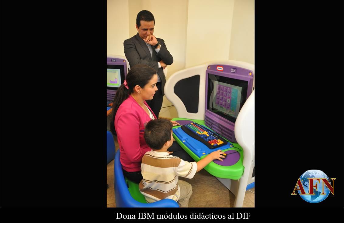 Dona IBM módulos didácticos al DIF