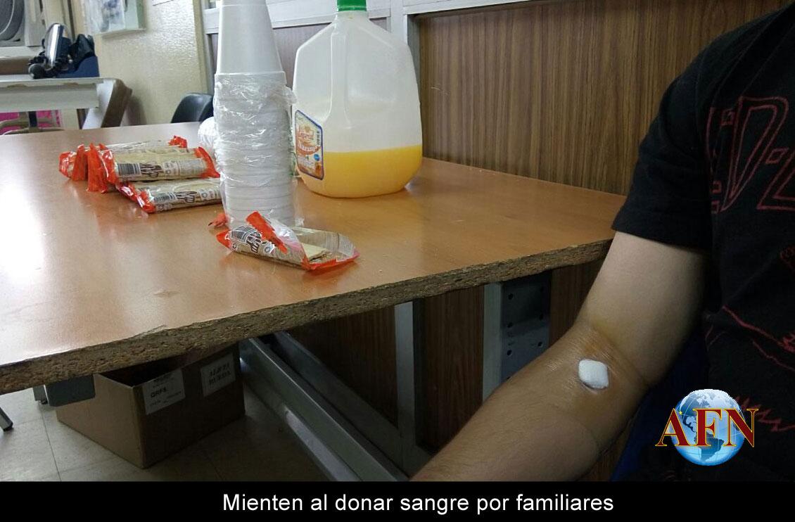 Mienten al donar sangre por familiares