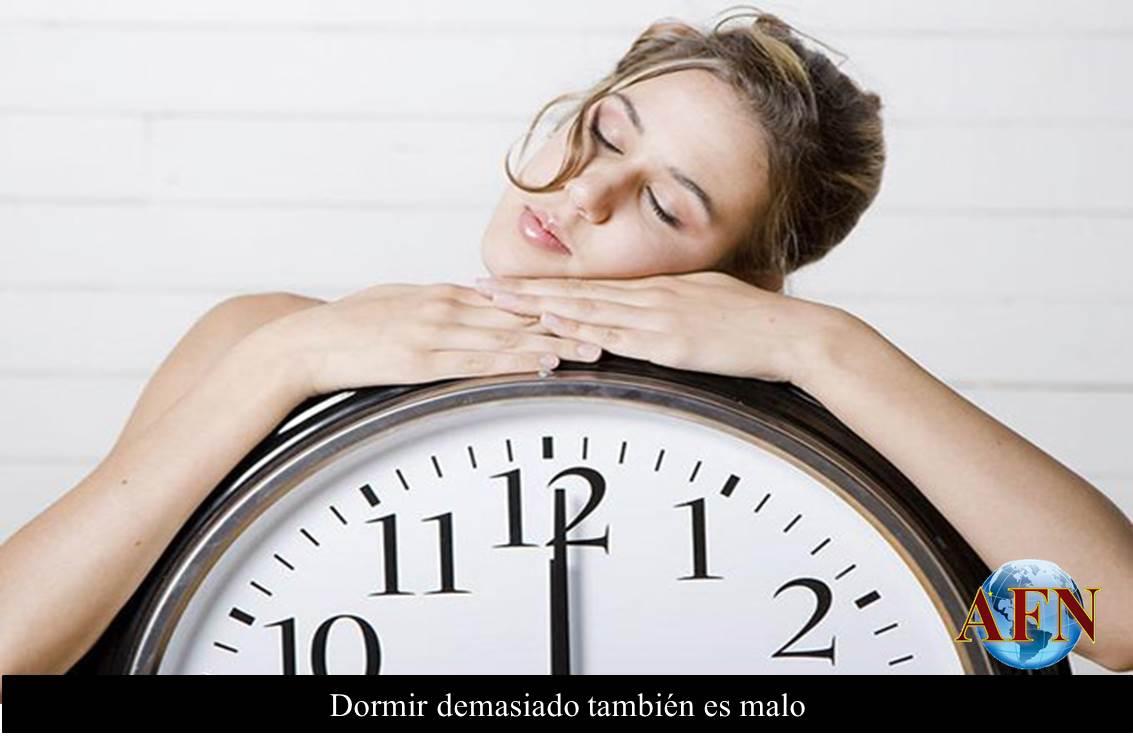 Dormir mucho es malo