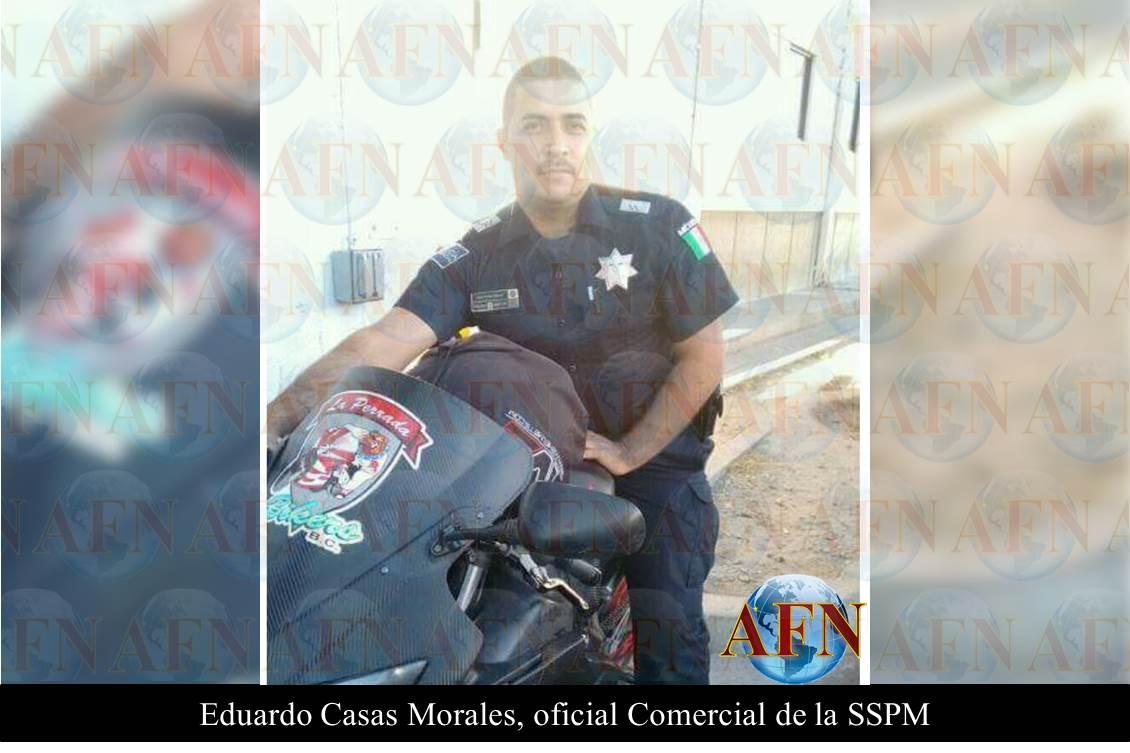 El chango mata a policía auxiliar
