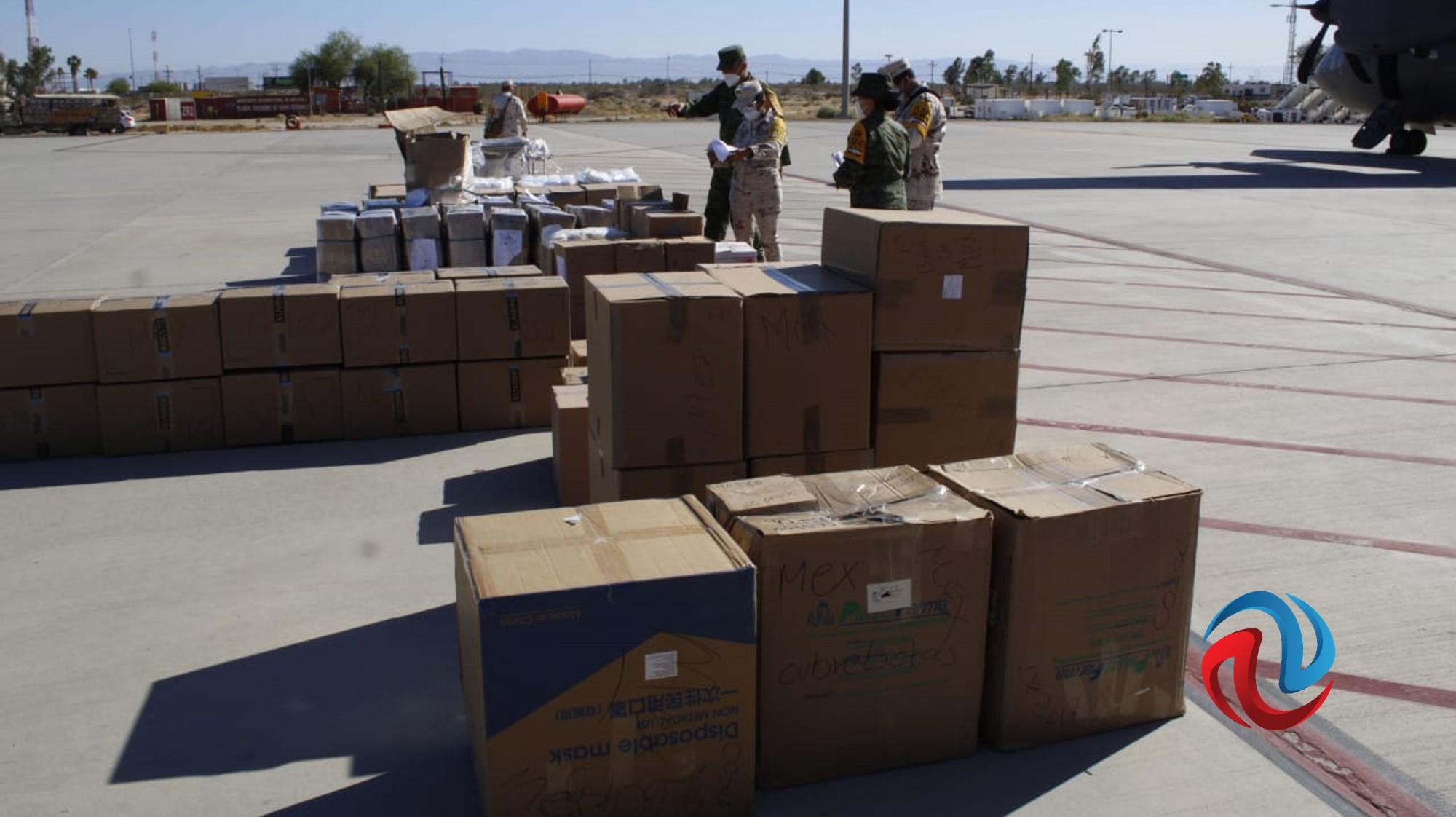 Llegan 5 toneladas de equipo médico  a BC