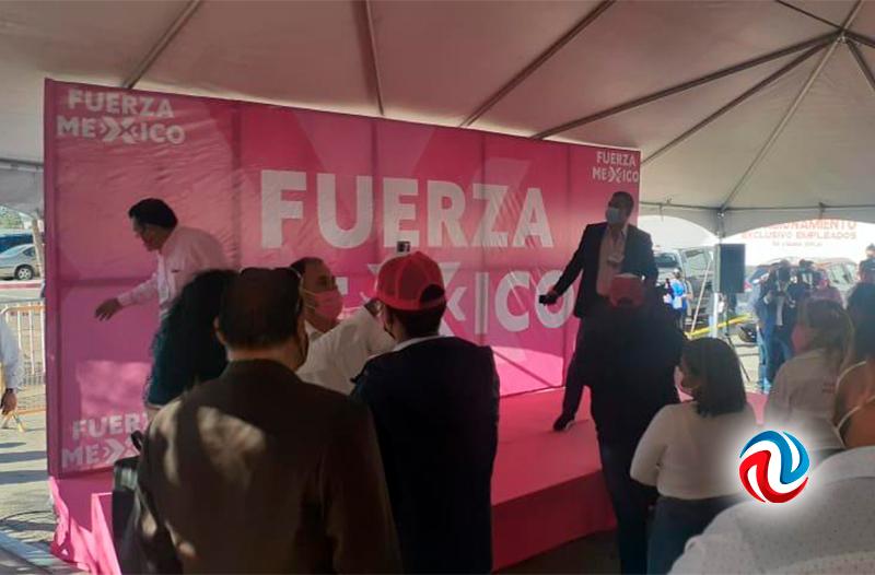 Jorge Ojeda, de Fuerza por México, registró su candidatura a gobernador