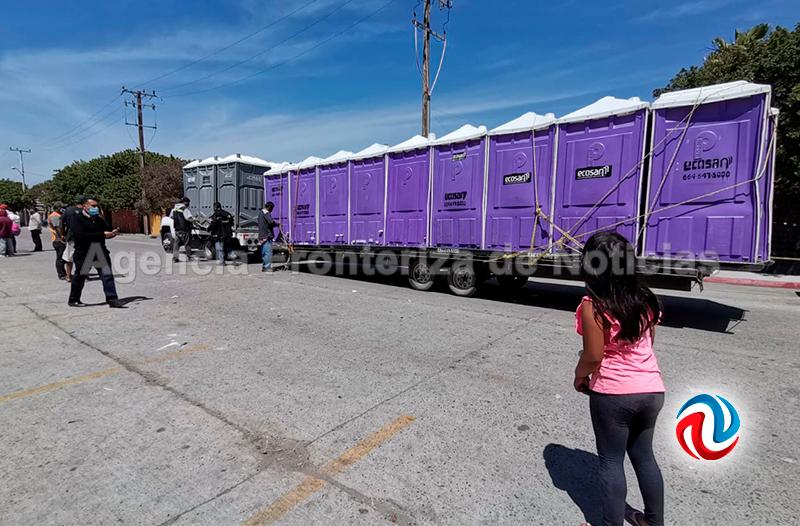 SAT impide instalación de baños en El Chaparral