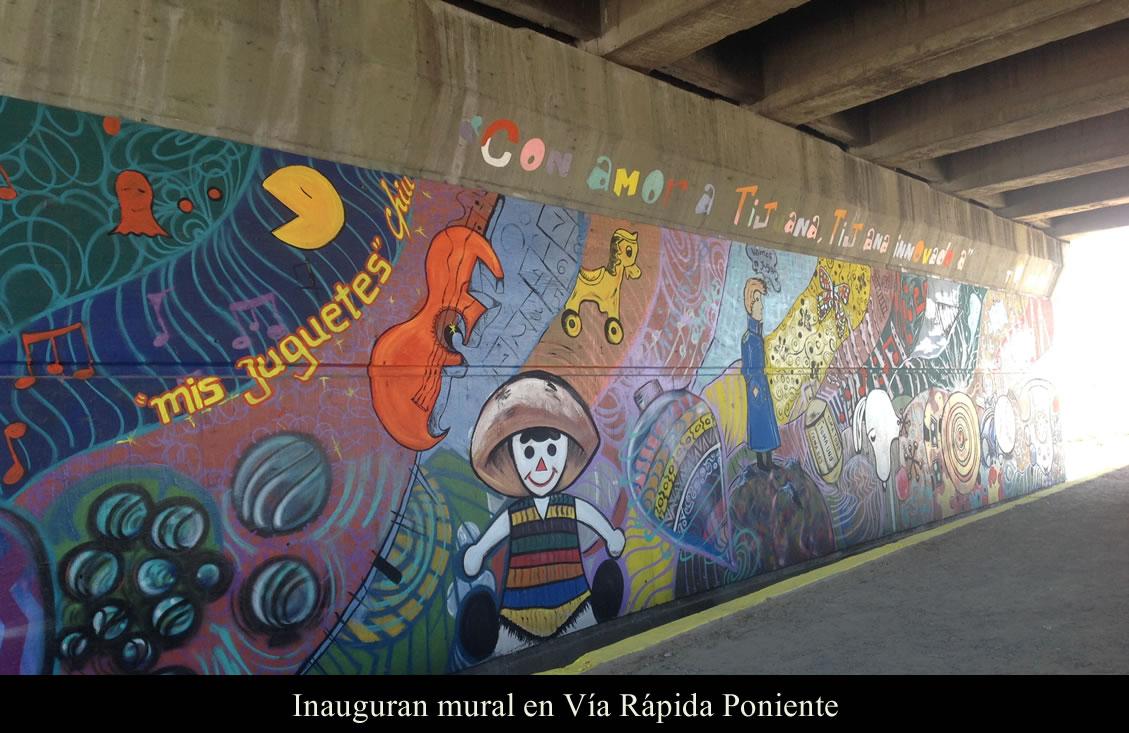 Inauguran mural en Vía Rápida Poniente