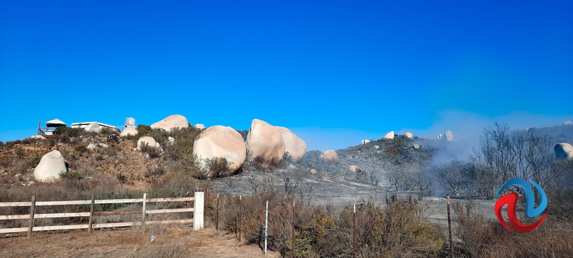 Reportan controlado el incendio en Rancho Bonito, Ensenada