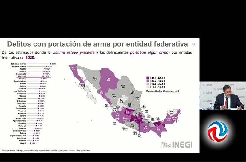 Presentó INEGI resultados de encuesta en seguridad pública