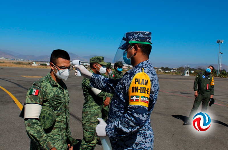 Llegan insumos para hospitales militares en BC