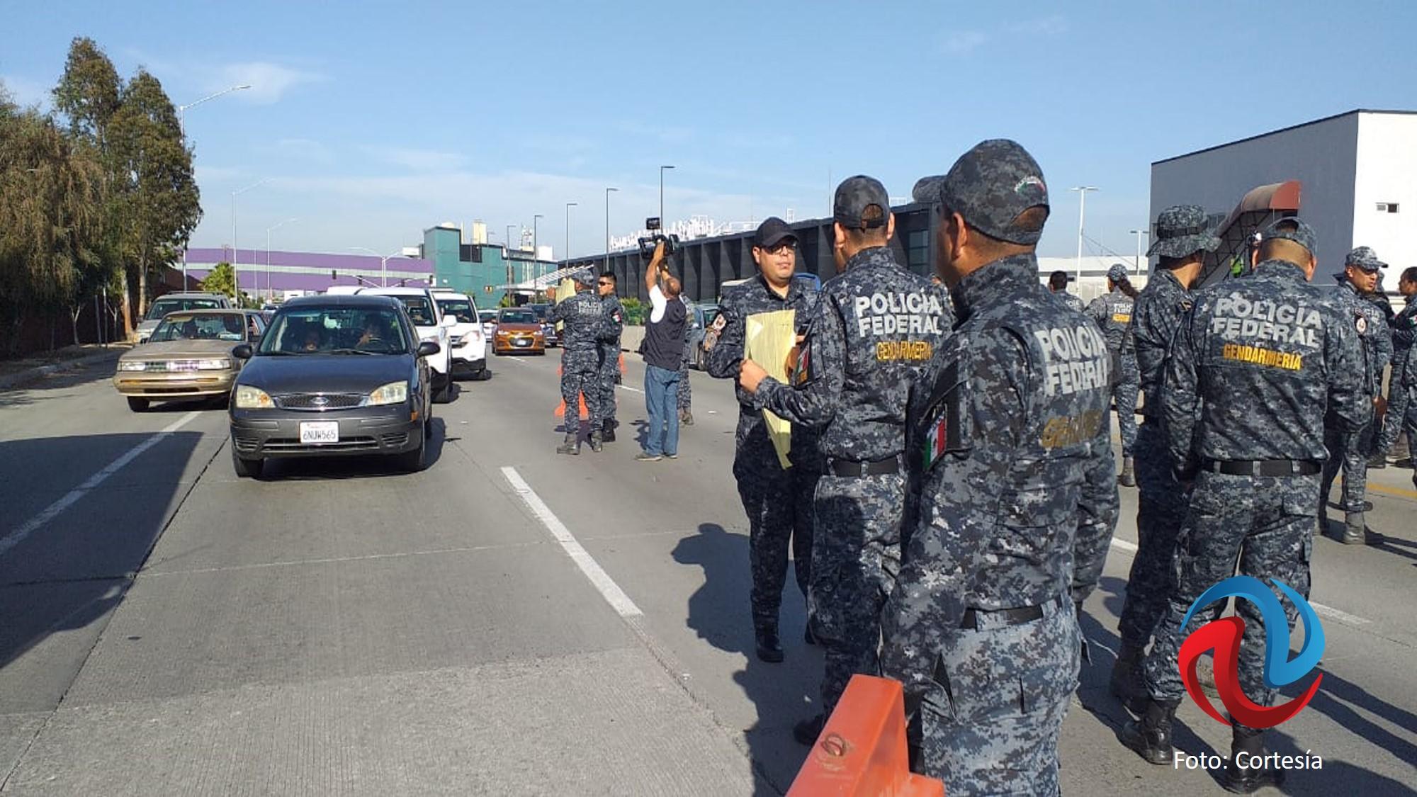 Se manifiestan policías federales en Tijuana