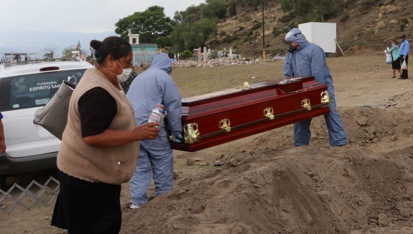 De marzo a agosto, México registra un exceso de mortalidad del 59%