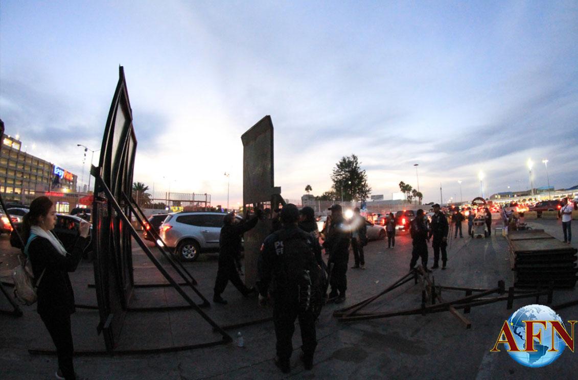Colocan barricada metálica en SY