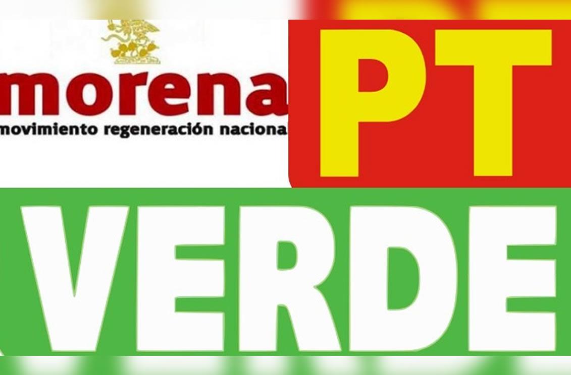 MORENA, PT y PV en alianza a favor de AMLO