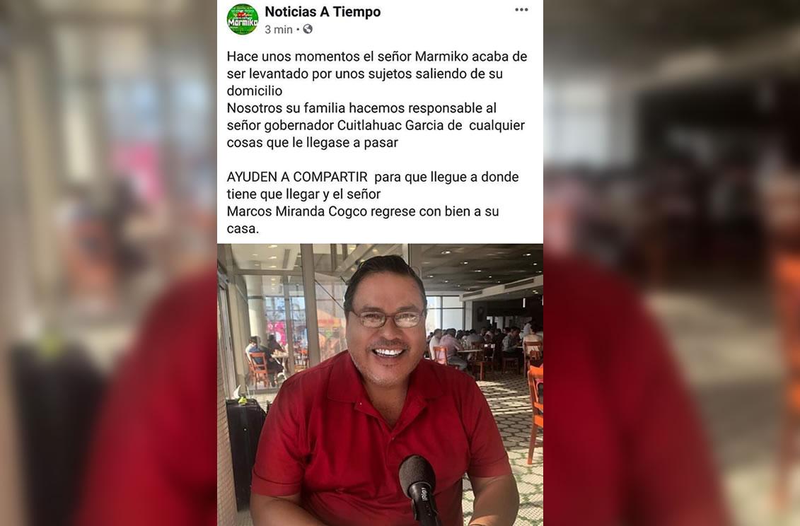 Matan a periodista en Tabasco y levantan a otro en Veracruz