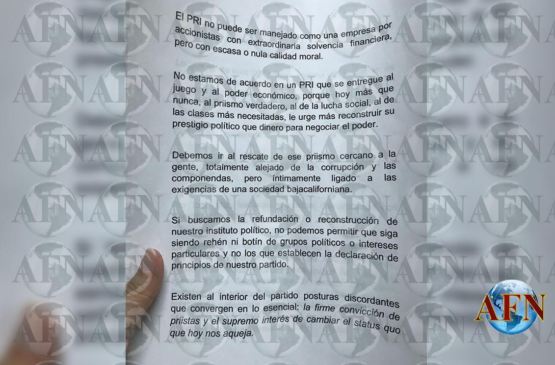 Priistas exigen la renuncia de Ruvalcaba