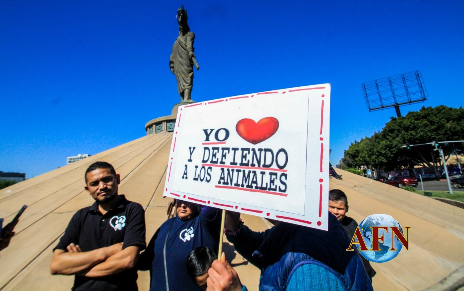 Protestan contra el maltrato animal