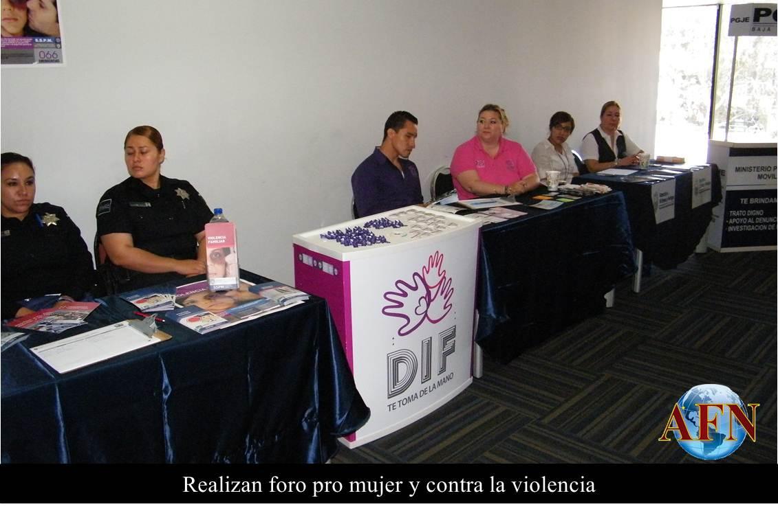 Foro pro mujer y contra la violencia