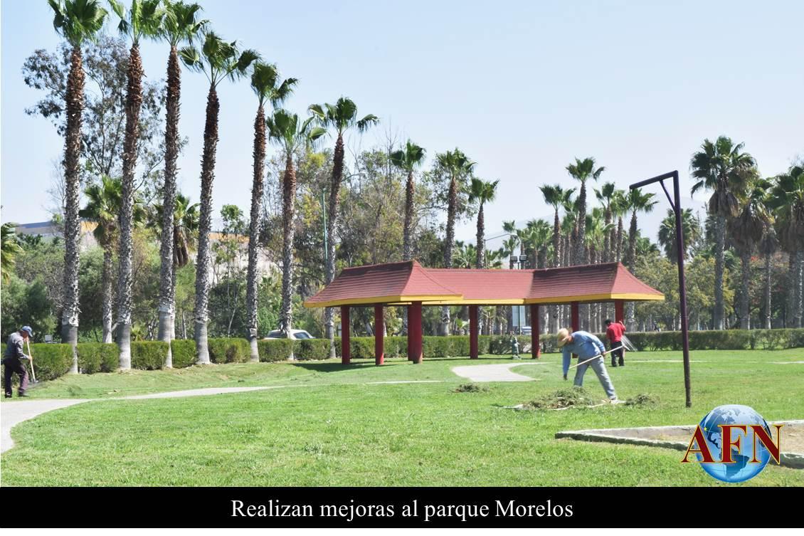 Realizan mejoras al parque morelos for Jardin oriental