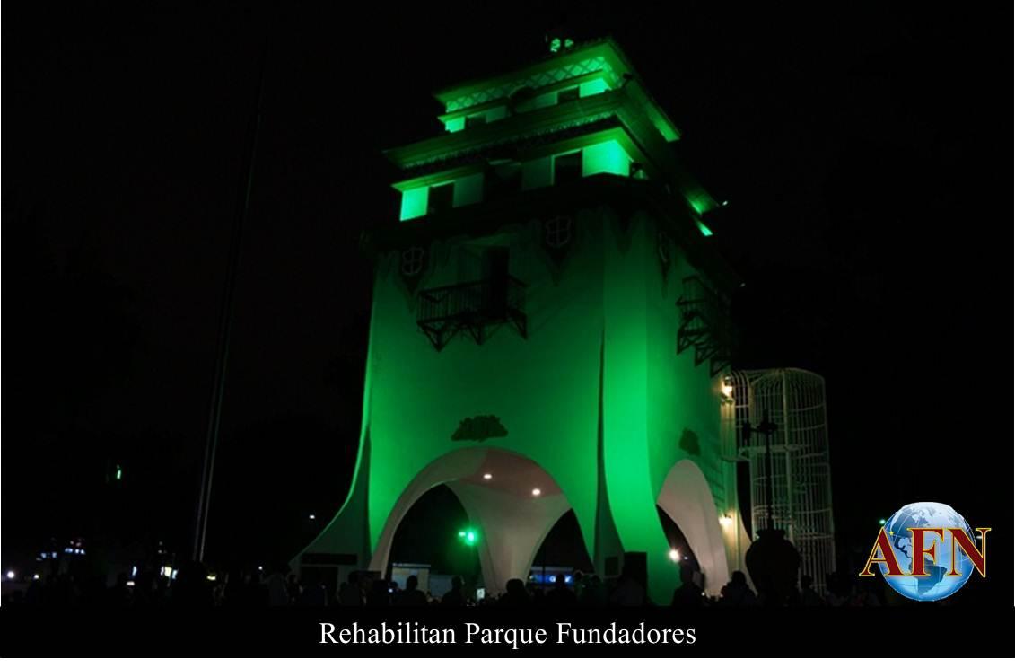 Rehabilitan Parque Fundadores