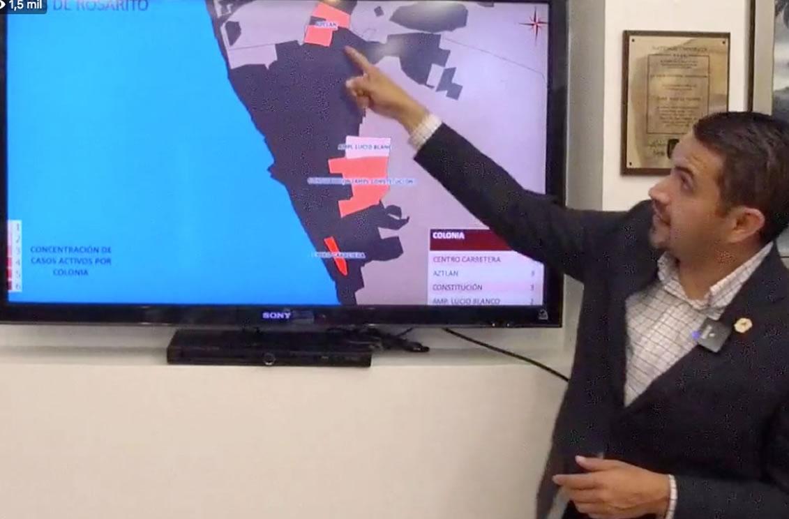 Baja California reporta disminución de los casos activos a Covid19