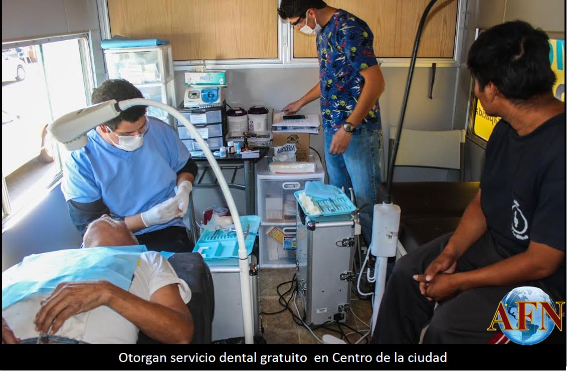Dan servicio dental gratuito en Zona Centro