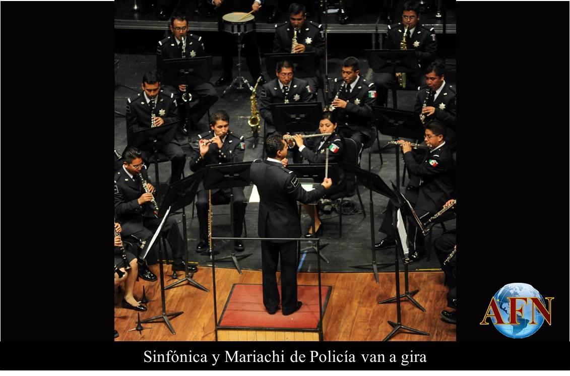 Sinfónica y Mariachi de Policía van a gira