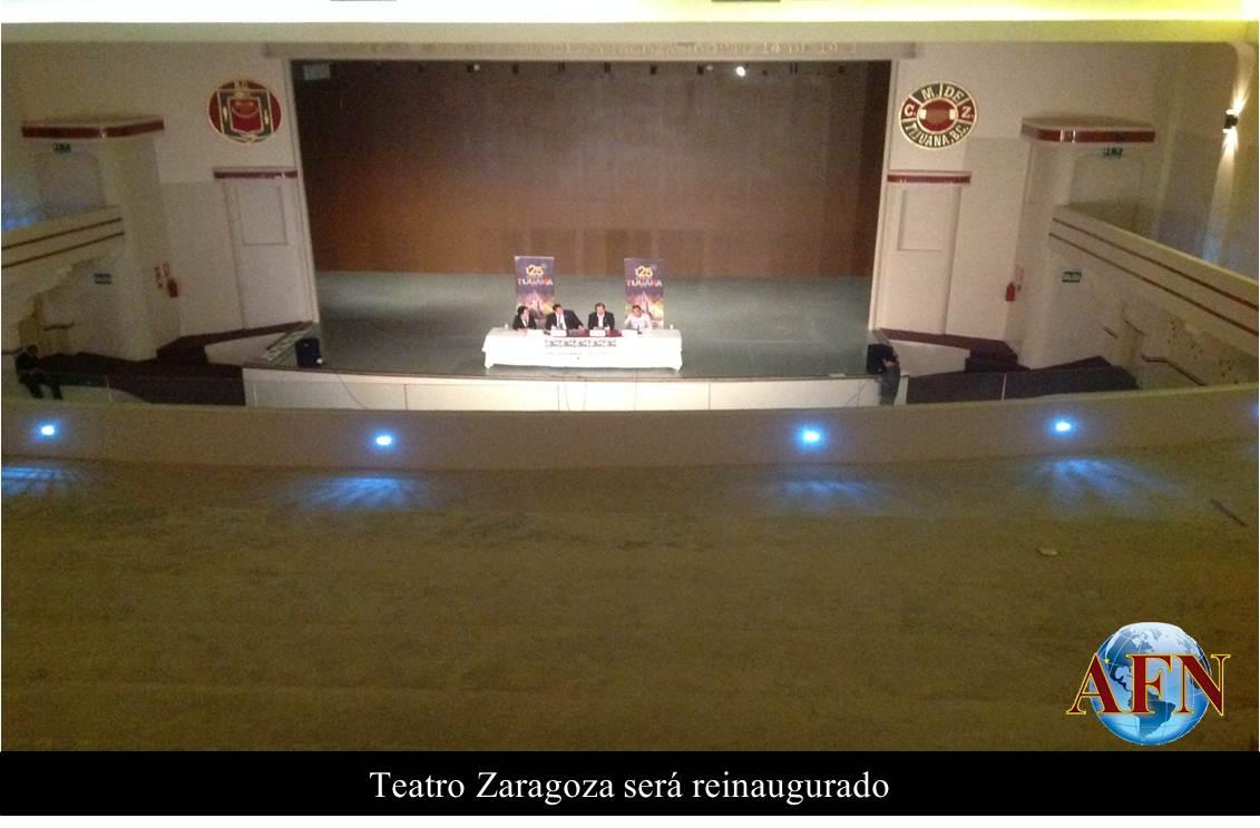 Teatro Zaragoza será reinaugurado