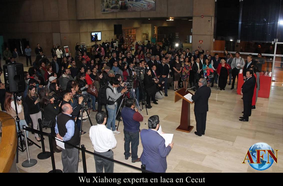 Wu Xiahong experta en laca en Cecut